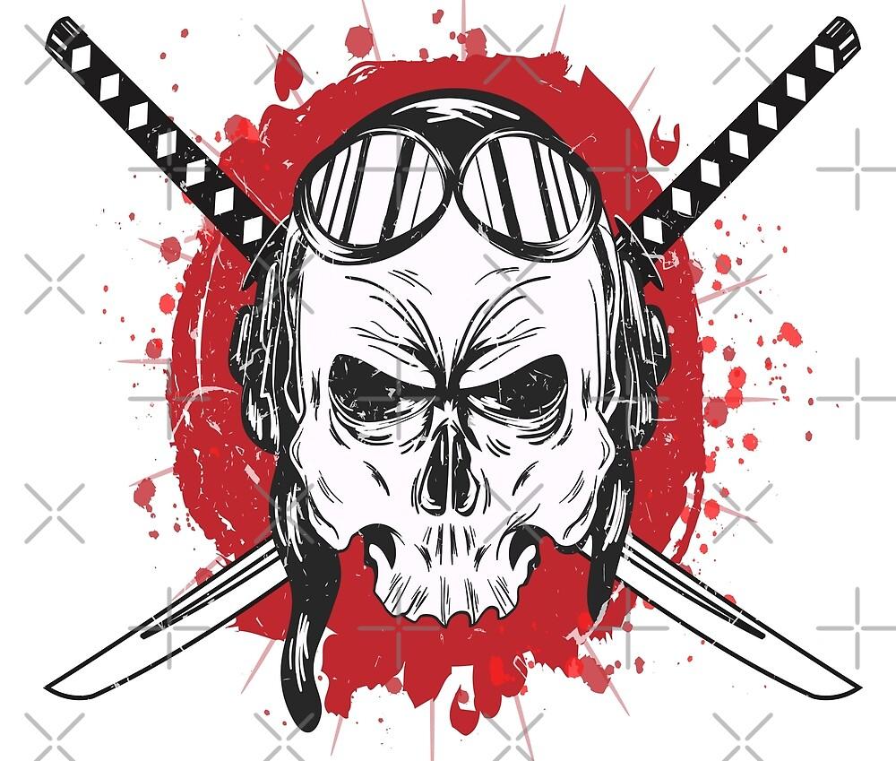 Kamikaze Skull Katana by leen12