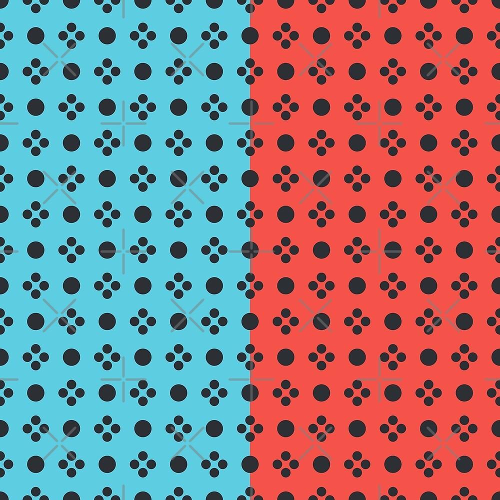 Joyful Controller Pattern Duo - Blue/Red by Pop-Fiction