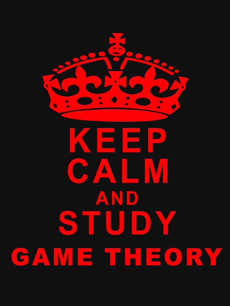 Keep Calm and Study Game Theory - Game Nerds Gift Ideas by GameTheoryShop