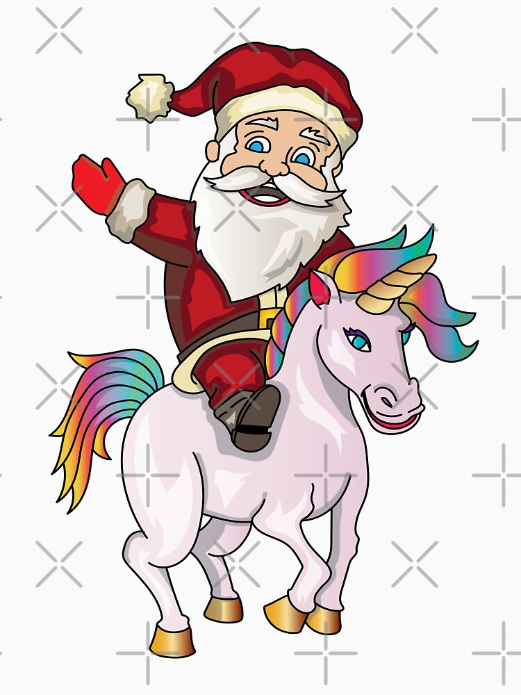 Santa Riding Unicorn by rkhy