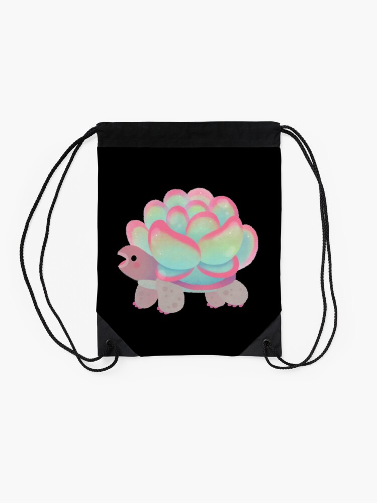 Alternate view of Cactus tortoise Drawstring Bag
