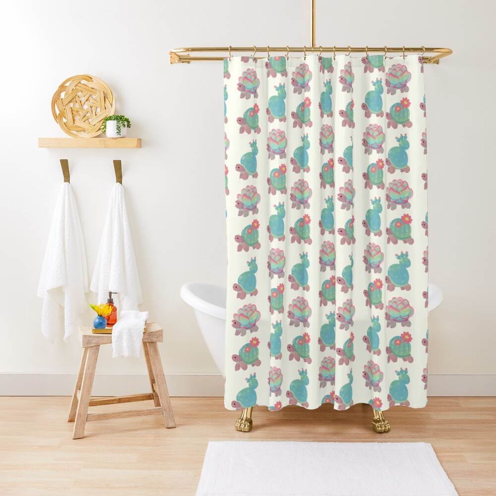Cactus tortoise Shower Curtain
