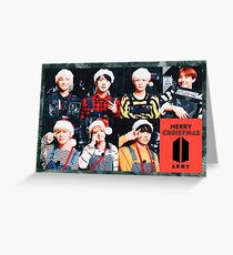 BTS Weihnachten Grußkarte