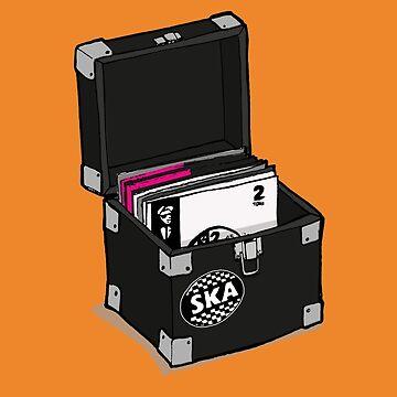Retro Vinyl Record Box - Ska by collibosher