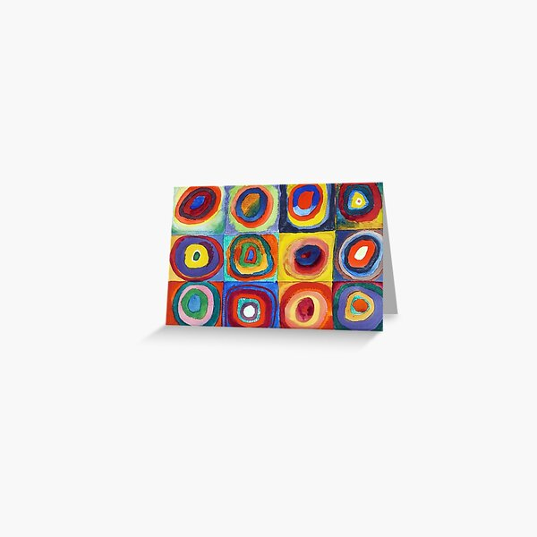 Wassily Kandinsky - Color Study, Squares with Concentric Circles - Bauhaus Art Greeting Card
