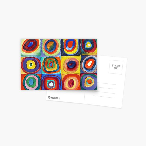 Wassily Kandinsky - Color Study, Squares with Concentric Circles - Bauhaus Art Postcard