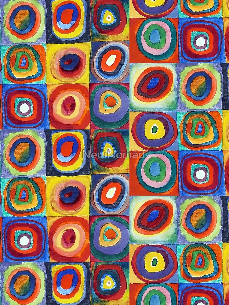 Wassily Kandinsky - Color Study, Squares with Concentric Circles - Bauhaus Art by NewNomads