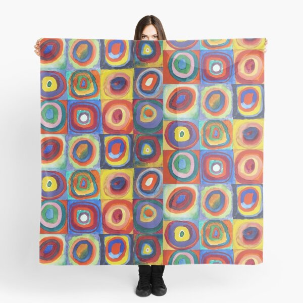 Wassily Kandinsky - Color Study, Squares with Concentric Circles - Bauhaus Art Scarf