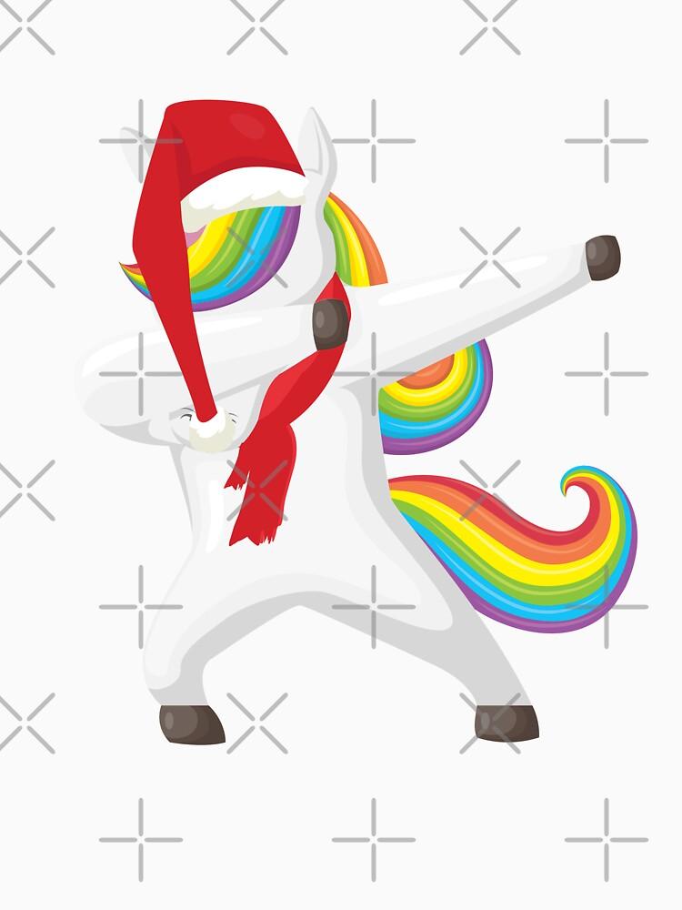 Christmas Unicorn Dabbing by rkhy