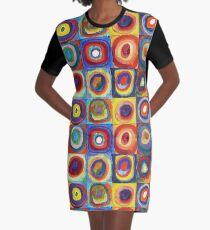 Wassily Kandinsky - Color Study - Bauhaus Art Graphic T-Shirt Dress