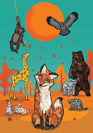The fox and the gang of animals by Wise-Geek