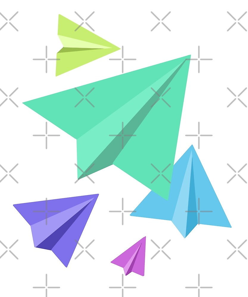 Colorful paper planes by voidea