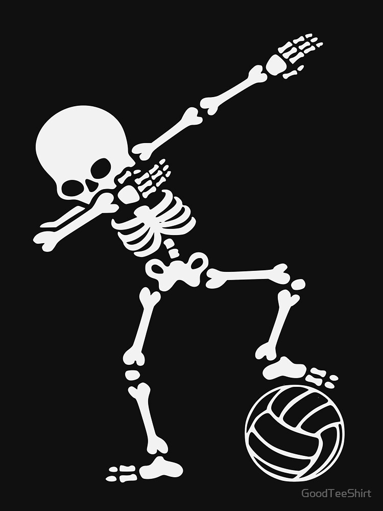 Funny Dabbing Skeleton Volleyball Shirt - Perfect Dabbing Skeleton Volleyball Hoodie - Women Man Kids - Perfect Gift by GoodTeeShirt