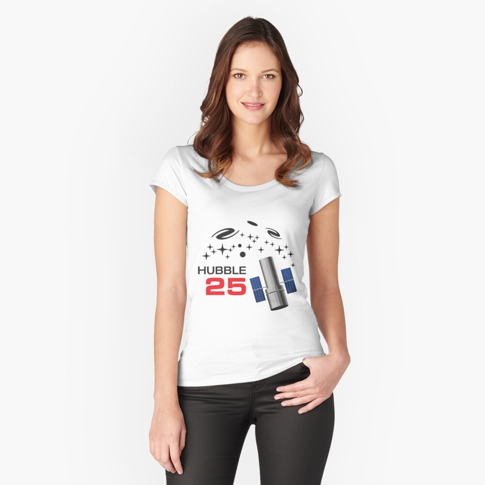 Hubble Space Telescope 25th Anniversary logo Women's Fitted Scoop T-Shirt Front
