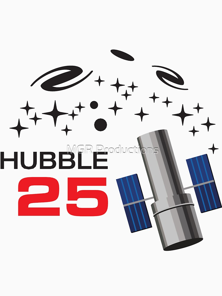 Hubble Space Telescope 25th Anniversary logo by Quatrosales