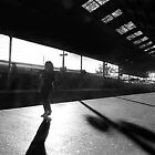 Waiting for the evening train. by Paul Pasco