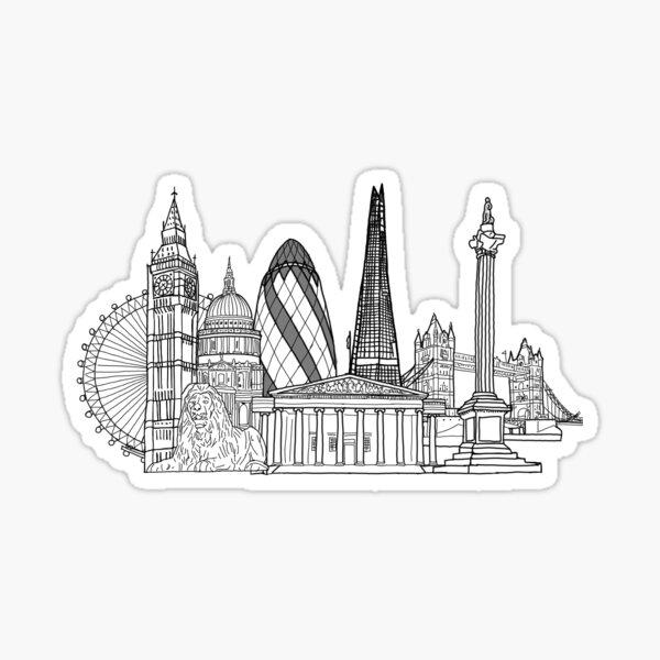 London City Skyline Outline Sticker