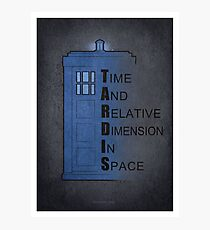 Doctor Who Tardis Photographic Print
