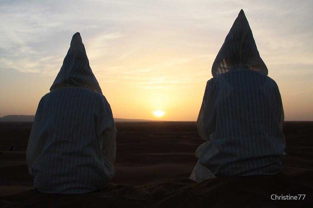 Djellaba sunrise (Sahara desert, Morocco) by Christine Oakley