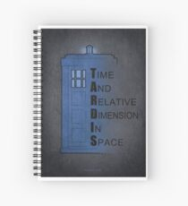 Doctor Who Tardis Spiral Notebook