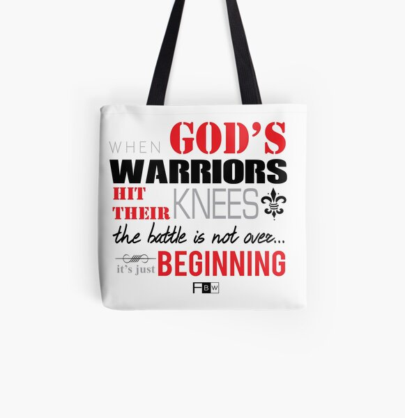 God's Warriors All Over Print Tote Bag