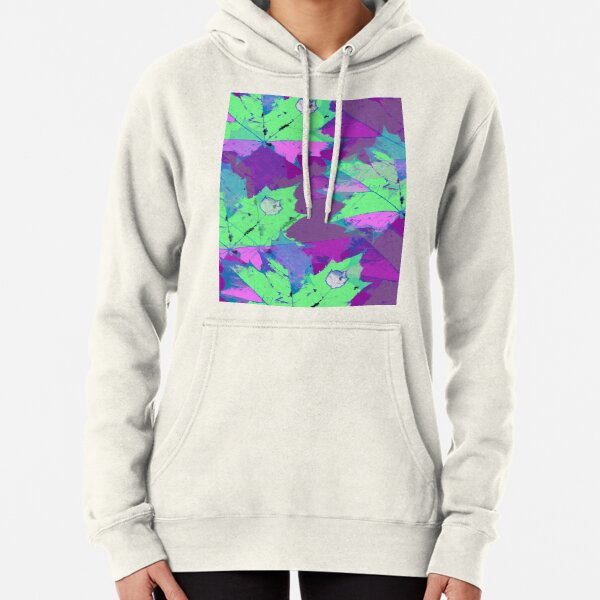 Lilac magic leaves Pullover Hoodie