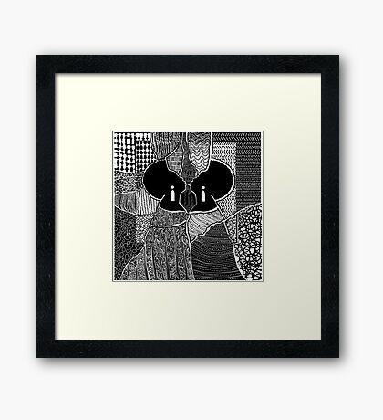Embracing Myself Framed Print