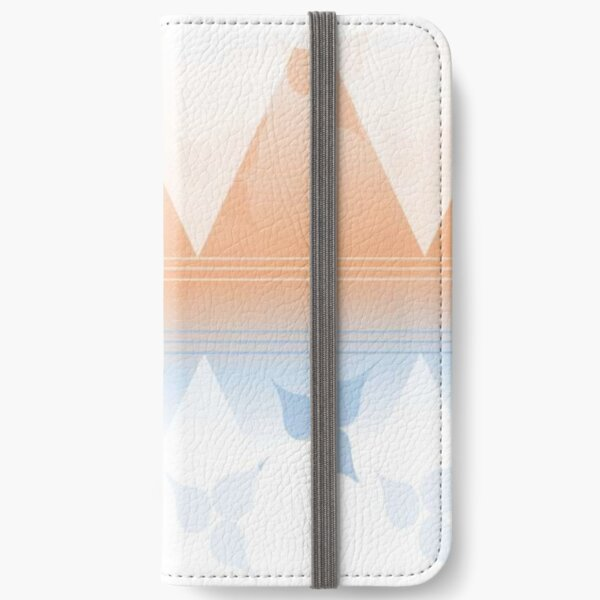 Delightful pink and blue leafs iPhone Wallet