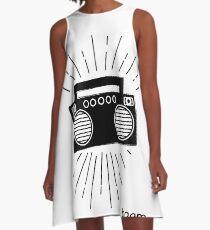 Retro Boombox A-Line Dress