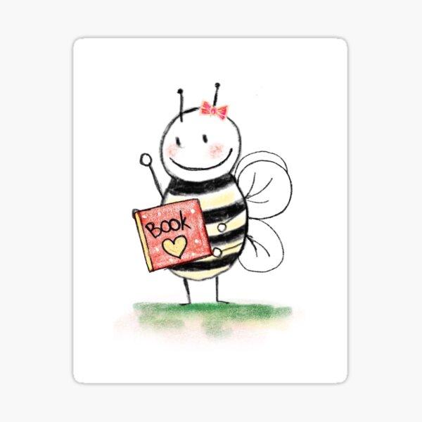 Book Bee Sticker