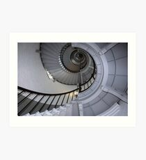Florida lighthouse stairs Art Print
