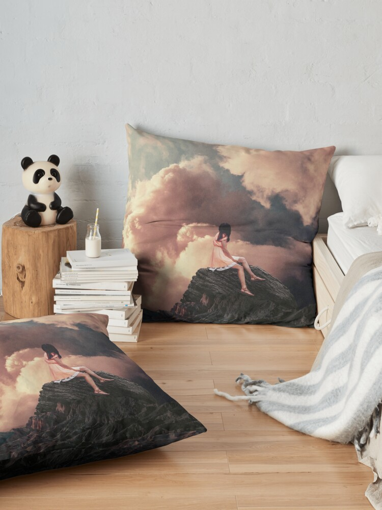 Alternate view of You came from the Clouds Floor Pillow