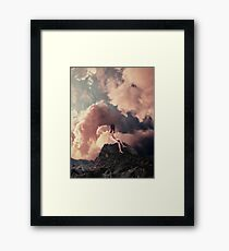 You came from the Clouds Framed Print