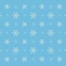Snowlakes pattern  by Tjaša Rome