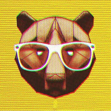 SMART ASS GRIZZLY HONEY BEAR by BIGjuneFineArt