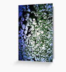 Moss-Tainted White with Blue Light Greeting Card