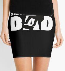 Skateboard Dad T-Shirt Skateboard Gift Father Skateboard Silhouette Tee Mini Skirt