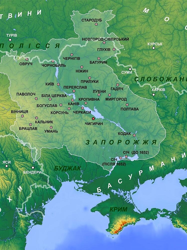 Cossack Hetmanate (1649-1764) Map by planetterra