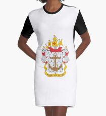 Coat of arms of the Colombian Navy Graphic T-Shirt Dress
