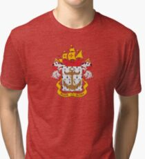 Coat of arms of the Colombian Navy Tri-blend T-Shirt