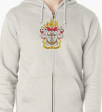 Coat of arms of the Colombian Navy Zipped Hoodie
