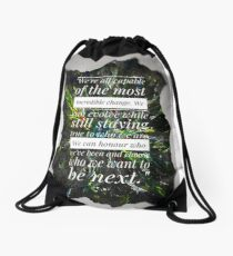 13th Doctor quote Drawstring Bag