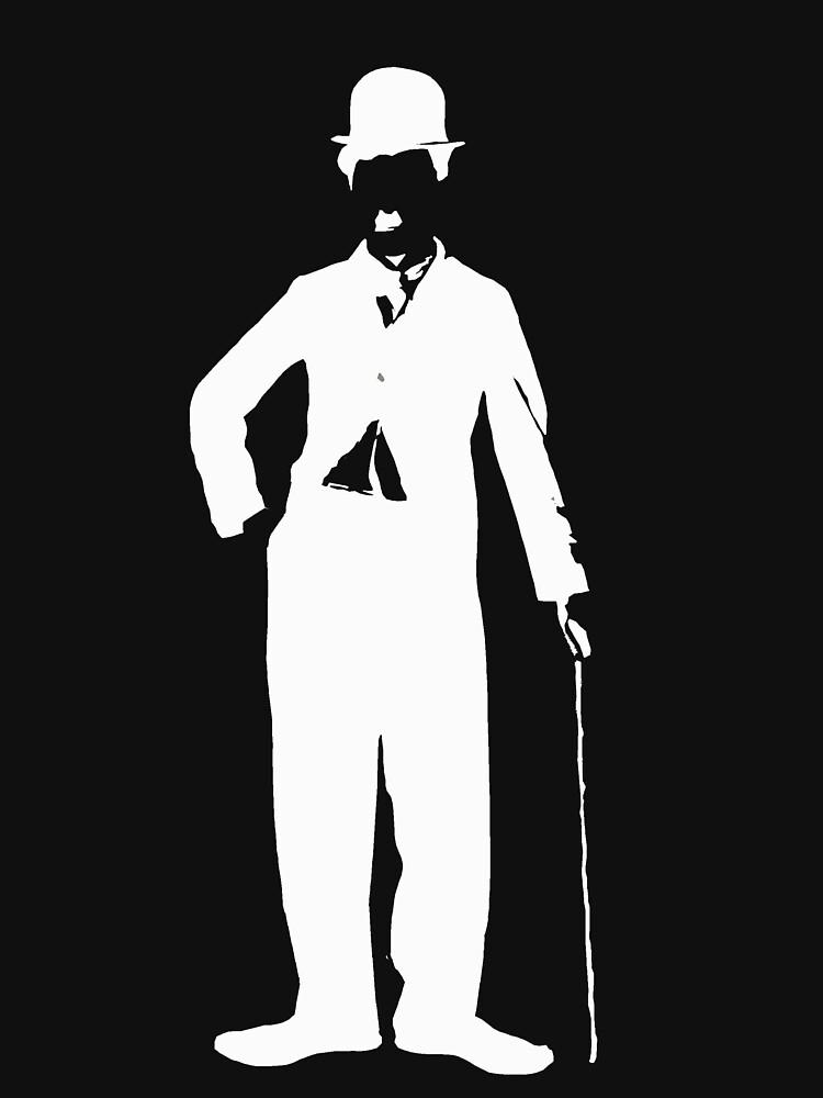 charlie chaplin - silueta de charlot de BEGROTESQUE