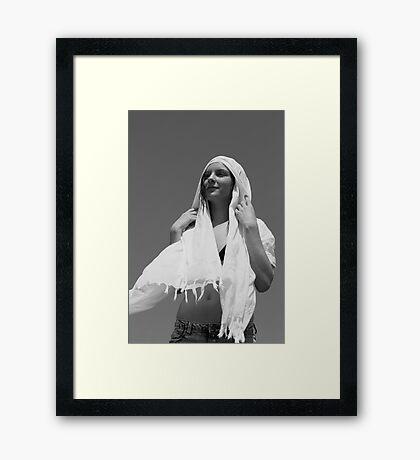 Woman With Shawl #1 Framed Print