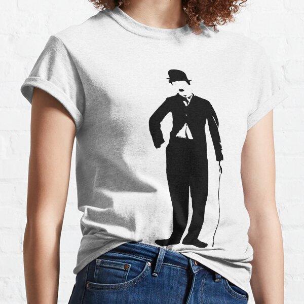 charlie chaplin - silueta de charlot Camiseta clásica