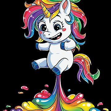 Unicornio Fart camiseta Squad Girls Kids Rainbow Party Regalos Camisetas Mujeres Hombres de LiqueGifts