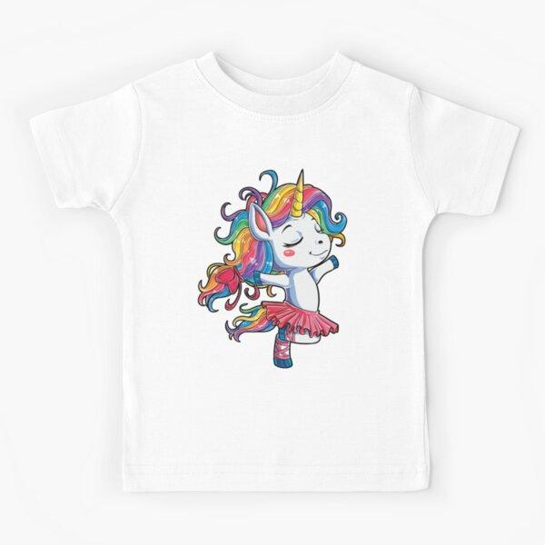 Ballet Dancer Unicorn T shirt Kids Girls Rainbow Ballerina Gifts Party Men Women Kids T-Shirt