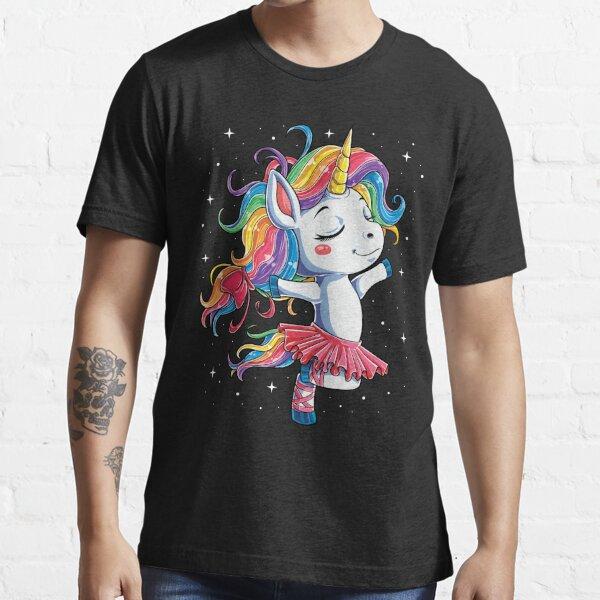 Ballet Dancer Unicorn T shirt Kids Girls Rainbow Ballerina Gifts Party Men Women Essential T-Shirt