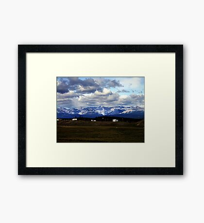 Foothills Morning Framed Print
