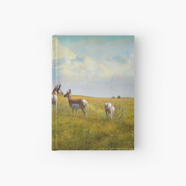 kansas pronghorn on flowered prairie Hardcover Journal